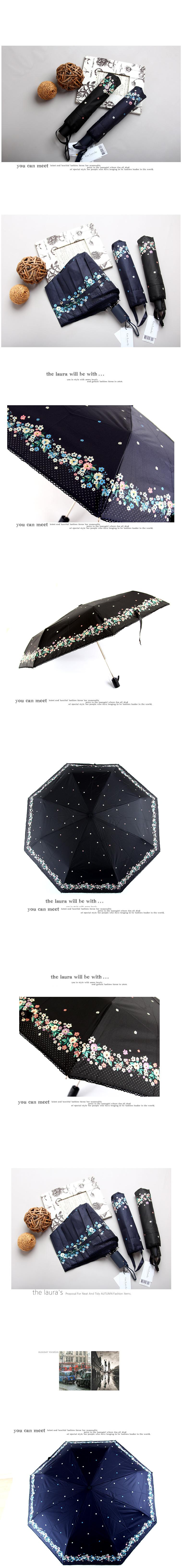 기라쉬 완자 3단 우산 - 가든 플라워 E908 - 더 로라, 18,900원, 우산, 자동3단/5단우산