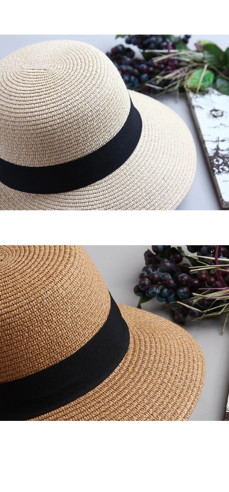 밀짚 모자-심플띠 라탄 여름모자 H903 - 더 로라, 15,900원, 모자, 밀짚모자